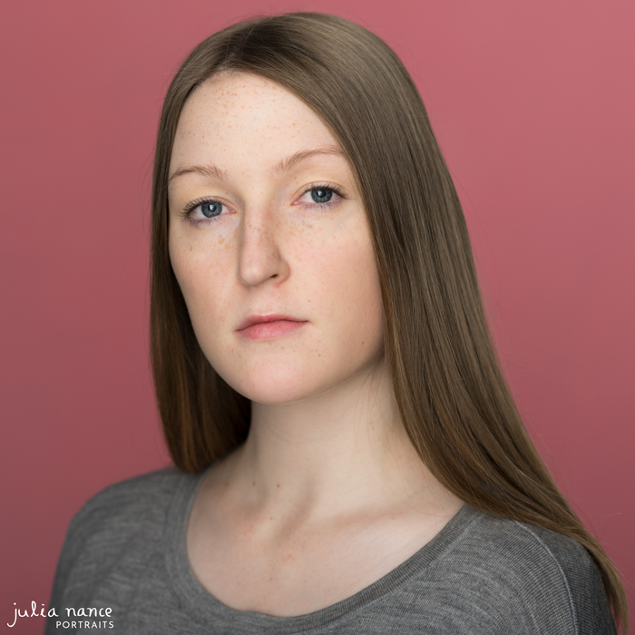 Melbourne Actors Headshots - Julia on pink background