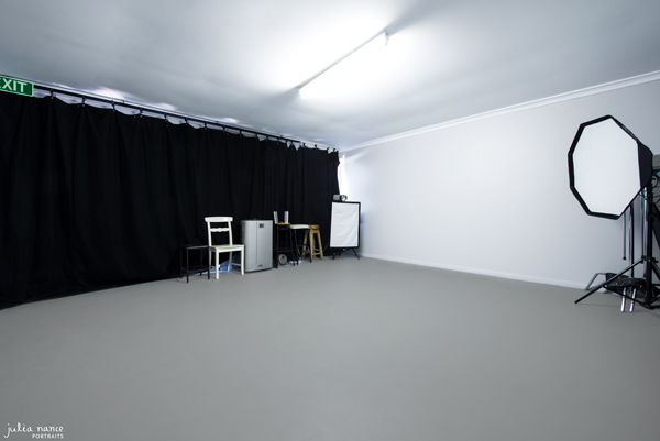 The interior of my Professional Photography Studio for Julia Nance Portraits.