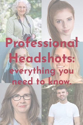 Professional Headshots - everything you need to know. Image with text and six professional corporate and personal branding photographs, taken in Melbourne