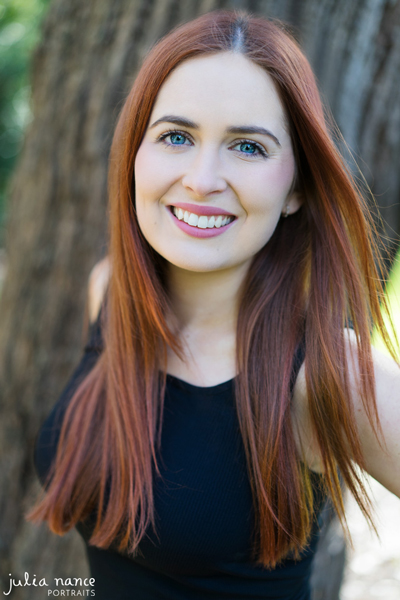 Melbourne actor headshot of girl smiling outdoors