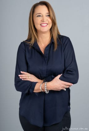 Personal branding and corporate portrait of woman smiling in a relaxed pose